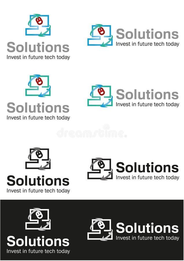 Computer solution business logo stock photos
