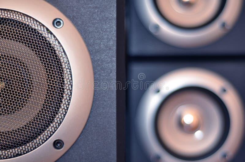 Computer speakers stock image