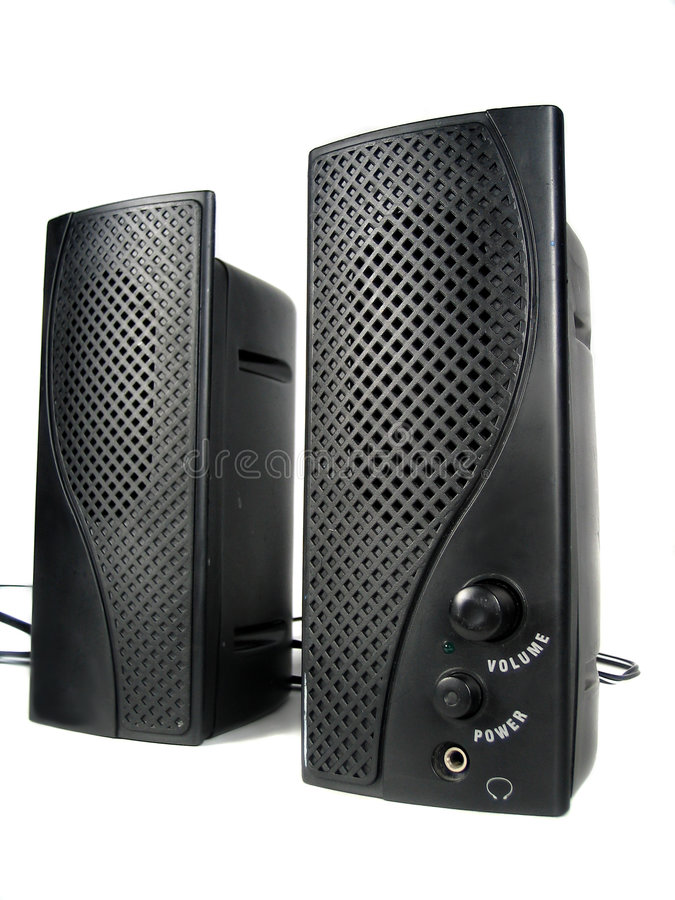 Computer speakers stock images