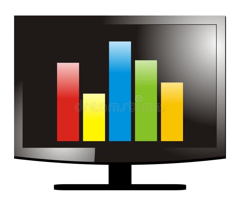 Computer-Statistiken lizenzfreie abbildung