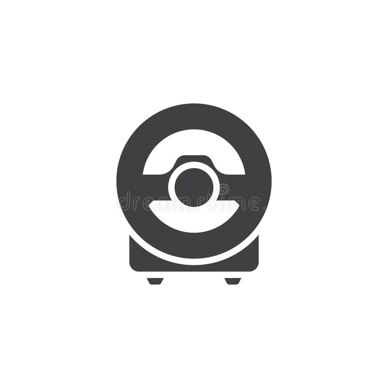 Computer steering wheel vector icon. Filled flat sign for mobile concept and web design. Game controller steering wheel glyph icon. Symbol, logo illustration vector illustration
