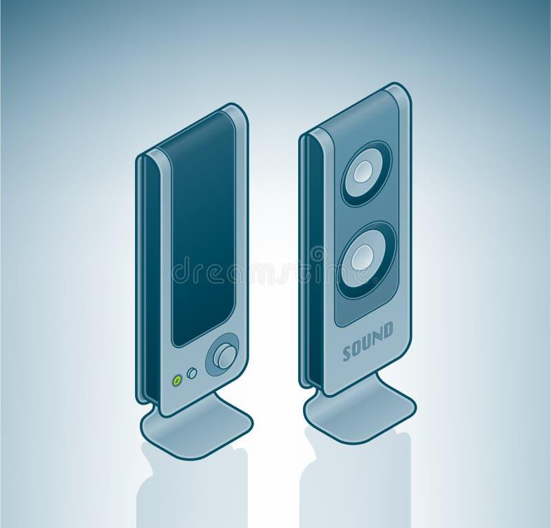 Computer Stereo Speakers vector illustration