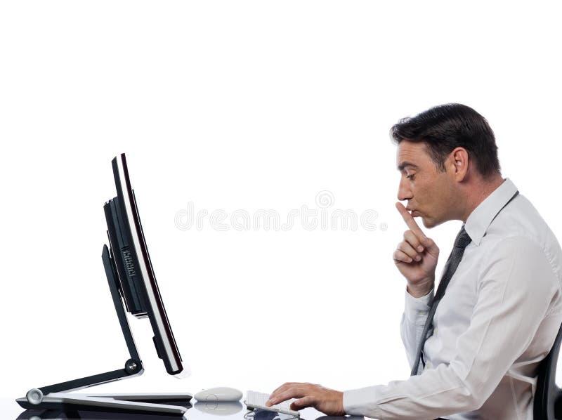 COMPUTER-Stilleruhe des Mannes rechnen lizenzfreies stockfoto