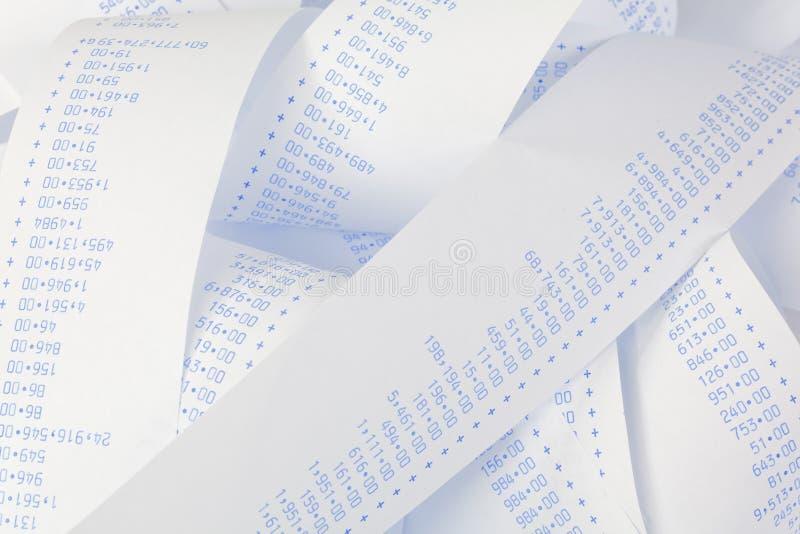 Computer strepen met aantallen. royalty-vrije stock foto's