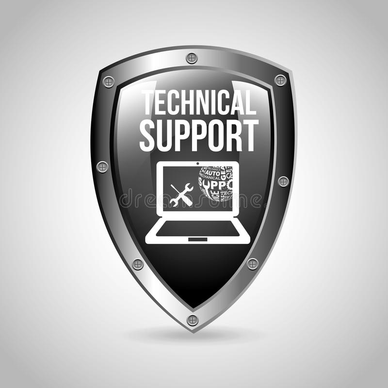 Computer support. Design, vector illustration eps10 graphic royalty free stock photography