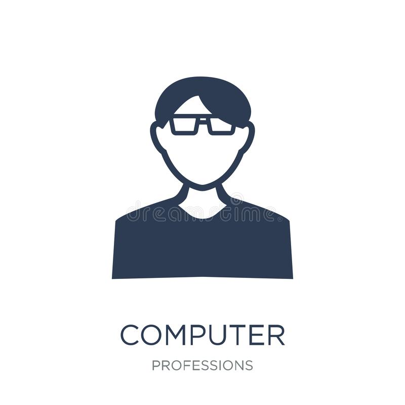 Computer Systems Analyst icon. Trendy flat vector Computer Systems Analyst icon on white background from Professions collection. Vector illustration can be use stock illustration