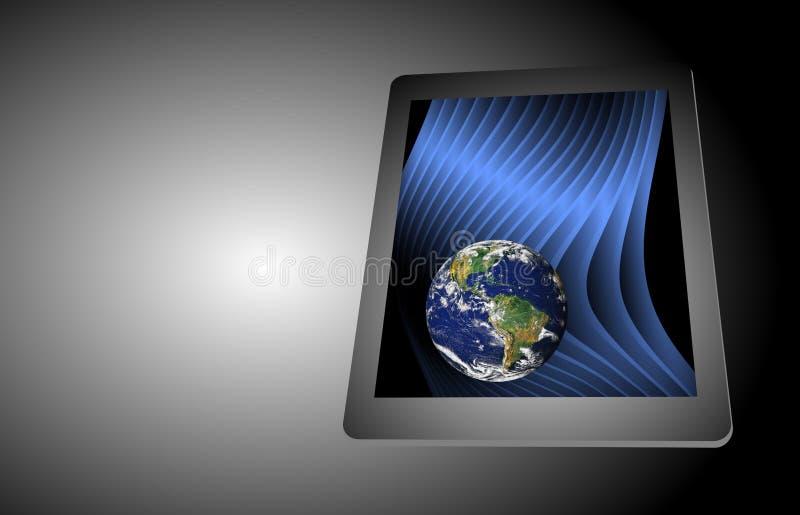 Computer-Tablet-Technologie-Erde Smartphone Handy stock abbildung