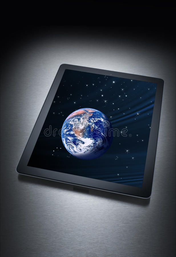Computer Tablet Technology Earth Royalty Free Stock Image