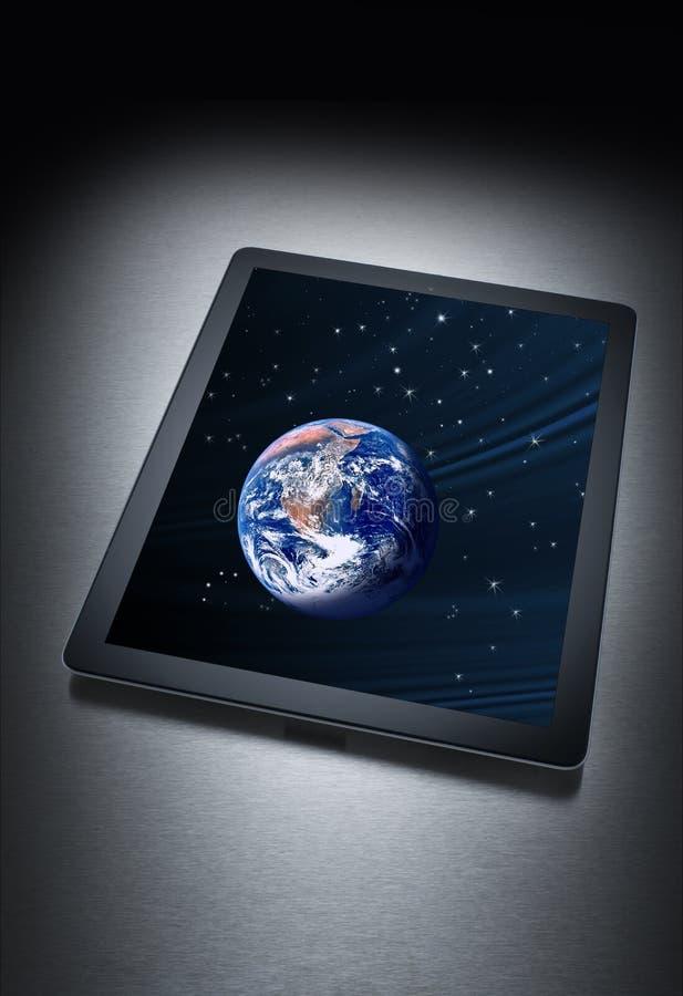Computer-Tabletten-Technologie-Erde lizenzfreies stockbild