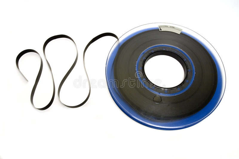Computer Tape. Old Mainframe magnetic tape royalty free stock images