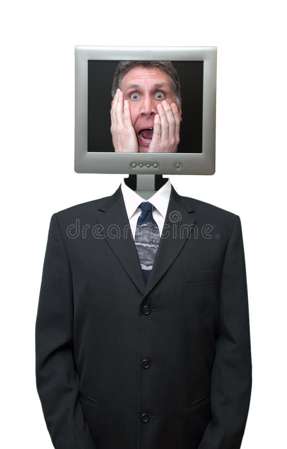 Computer Technolgy Business Internet Isolated royalty free stock photo