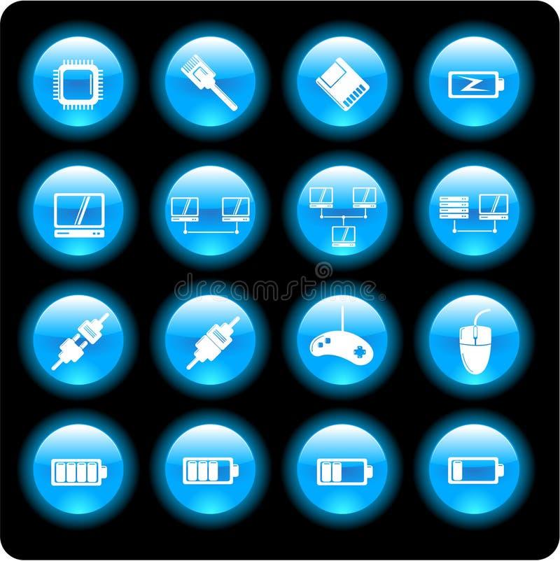 Computer Technology Icons Stock Photos