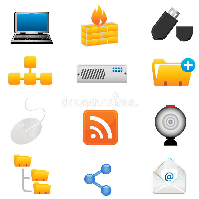 Computer and technology icons royalty free illustration