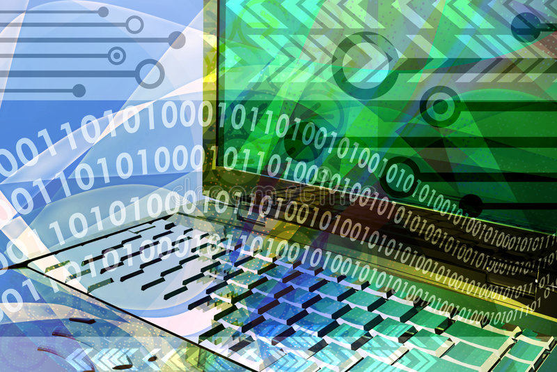 Computer technology mix stock illustration