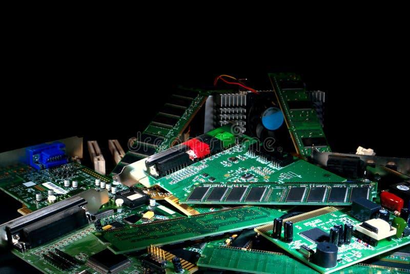 Computer-Teile lizenzfreie stockbilder
