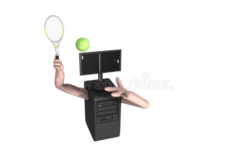 Download Computer Tennis Game stock illustration. Illustration of simple - 8718139