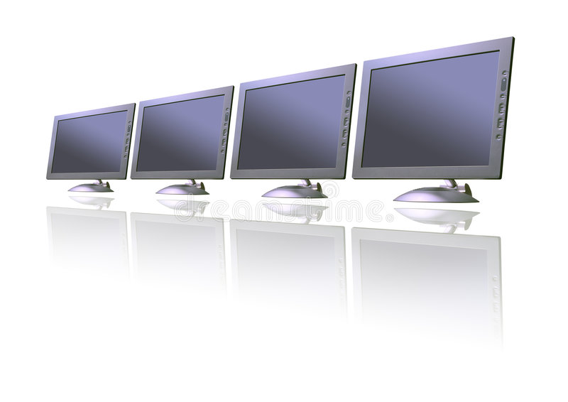 Computer TFT Monitors Stock Photos