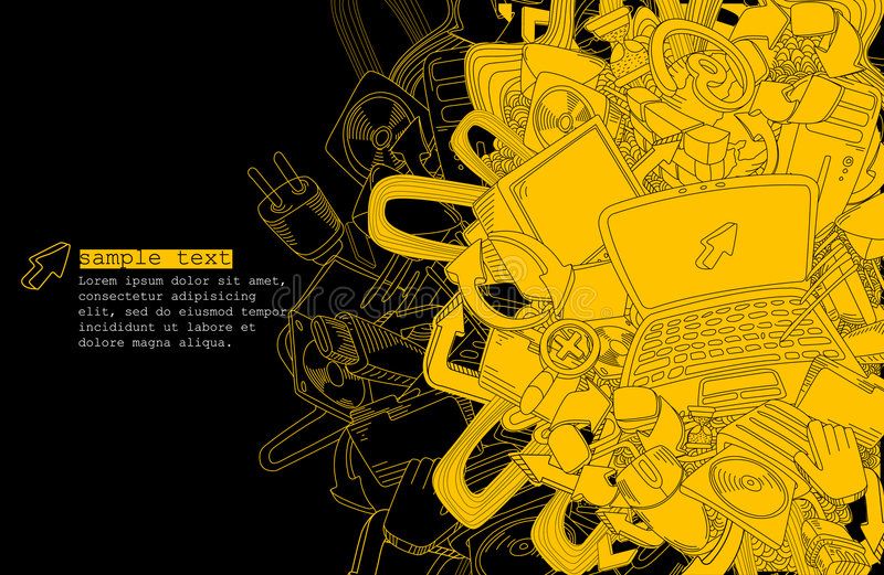 Download Computer Theme Background-vector Stock Photography - Image: 8888762