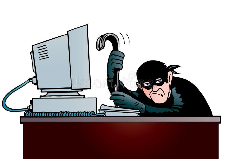 Download Computer thief stock illustration. Image of danger, internet - 22232679