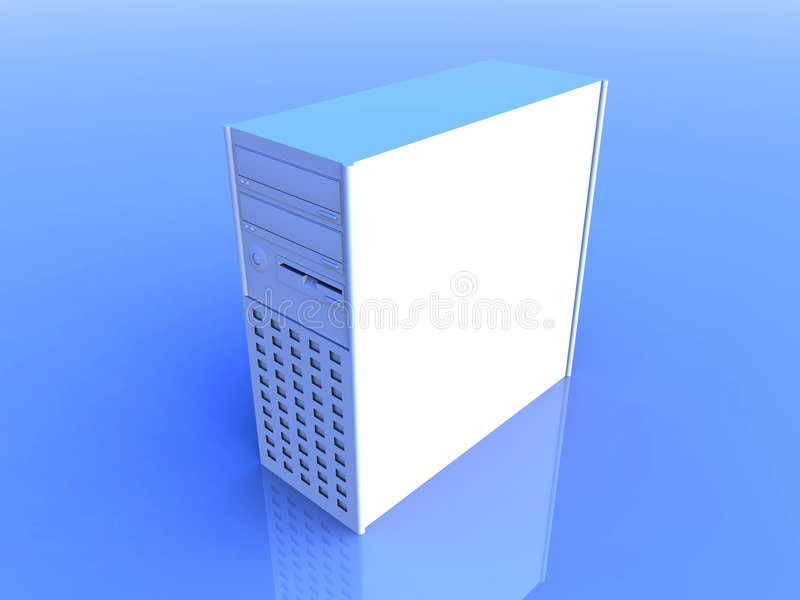 Computer Tower - Blue royalty free illustration