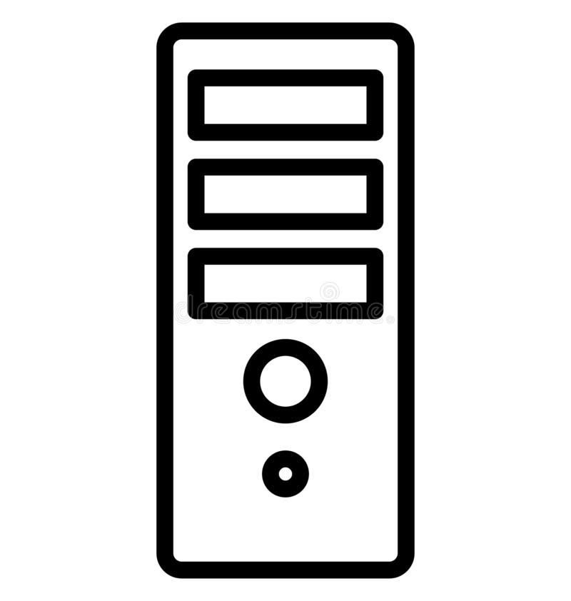 Computer, tower Isolated Vector Icon That can be easily edited in any size or modified. vector illustration
