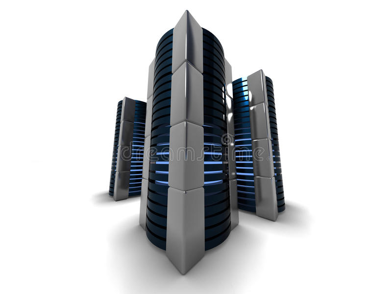 Computer towers royalty free illustration