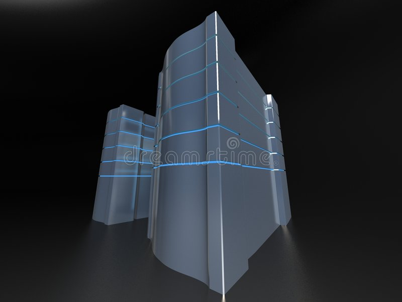 Computer Towers vector illustration