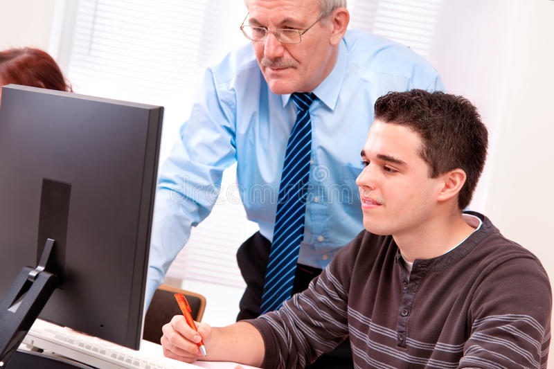 Computer training royalty free stock images