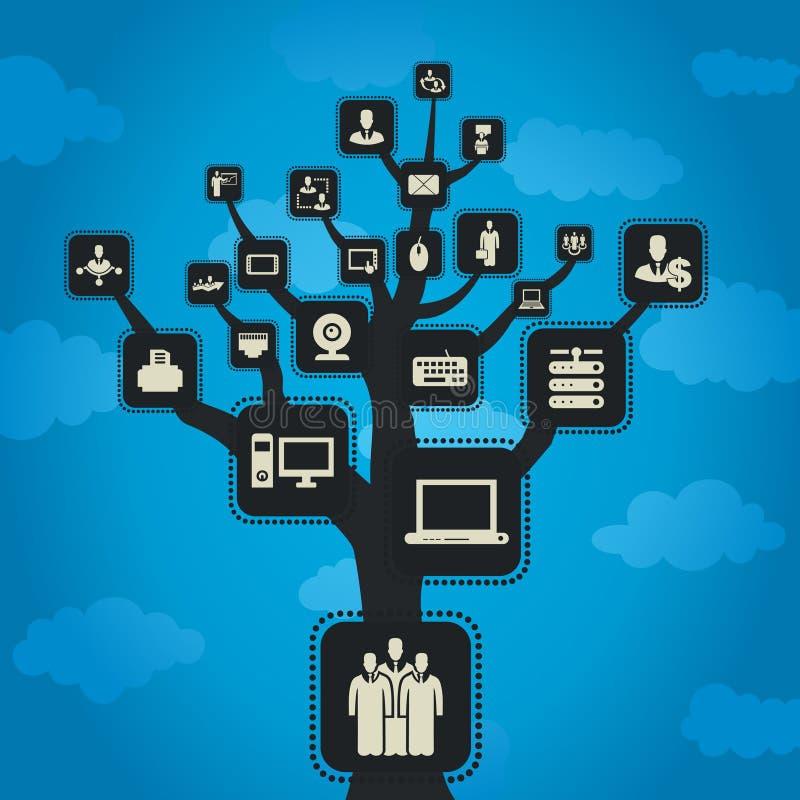 Computer tree2 vector illustratie
