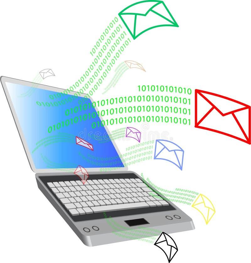 Computer und mail2 lizenzfreie abbildung