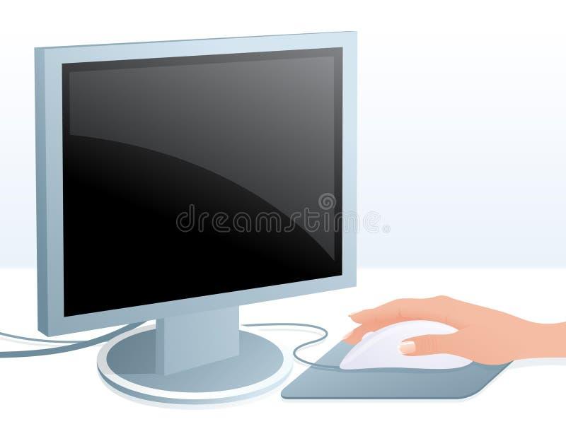 Computer und Maus lizenzfreie abbildung