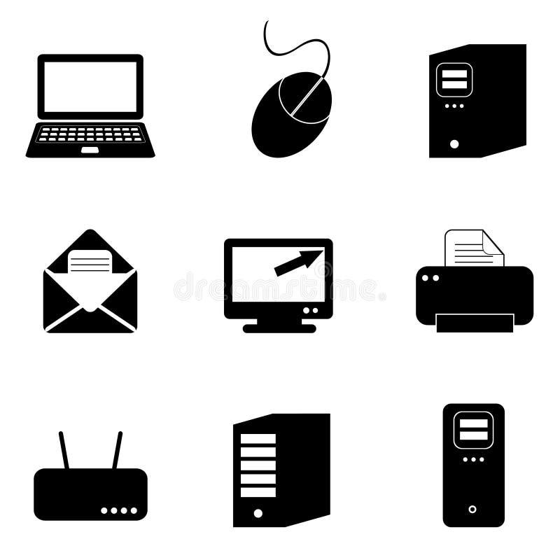 Computer- und Technologieikonen lizenzfreie abbildung