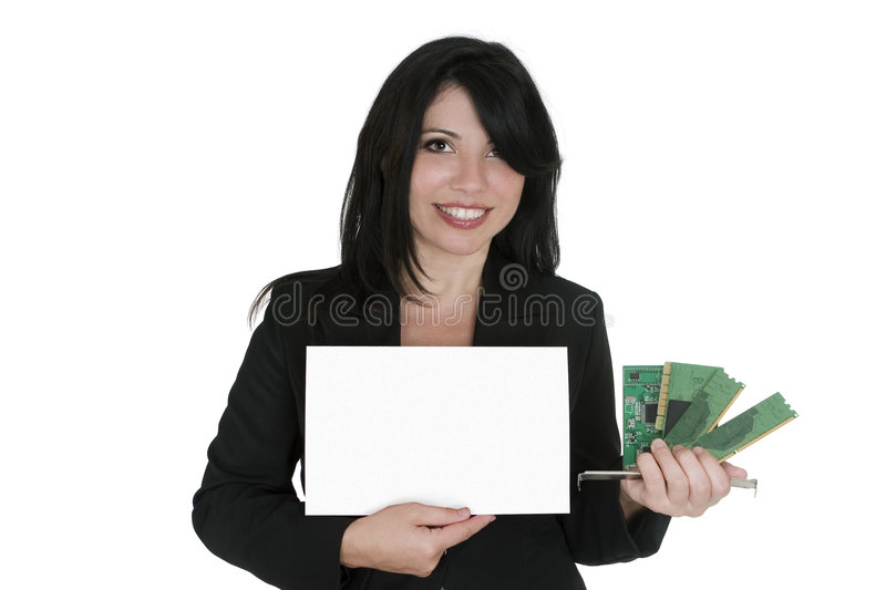 Computer upgrade sale stock photography