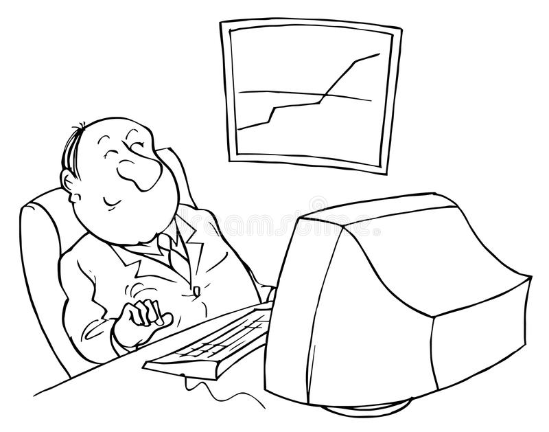 Computer user stock illustration