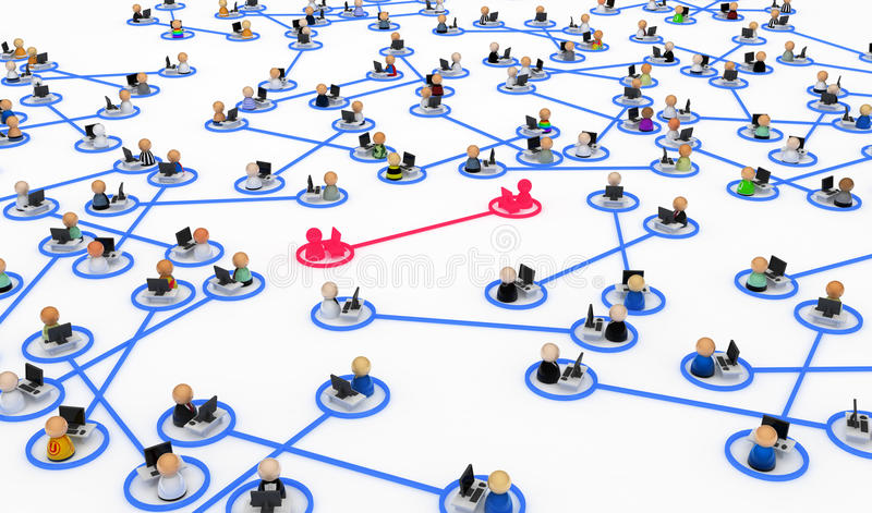 Download Computer Users, Linked Pairs Stock Illustration - Image: 10198146