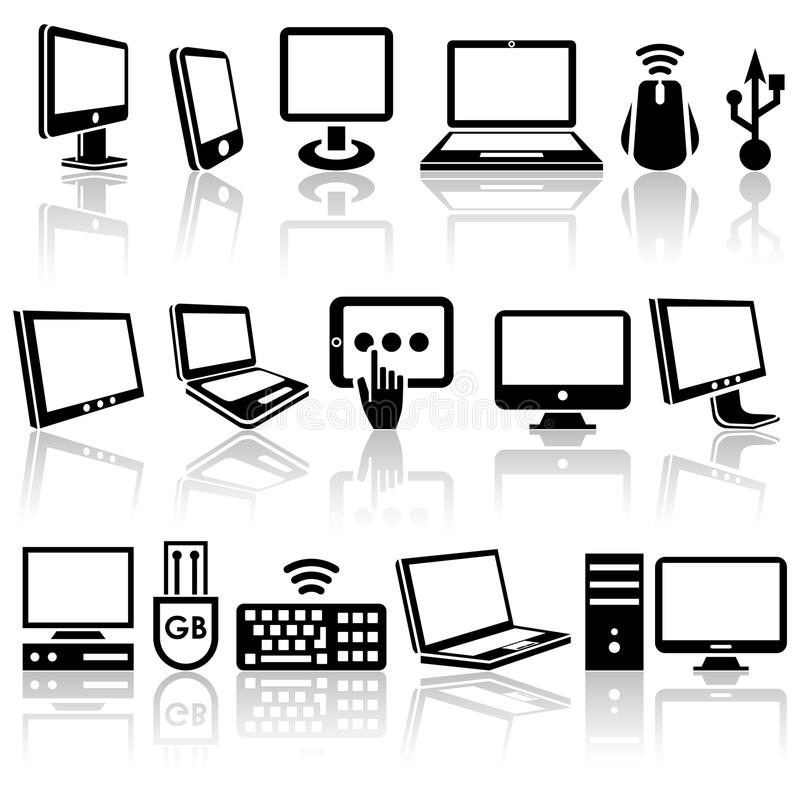 Download Computer Vector Icons Set. EPS 10. Stock Vector - Illustration of object, modern: 33973196