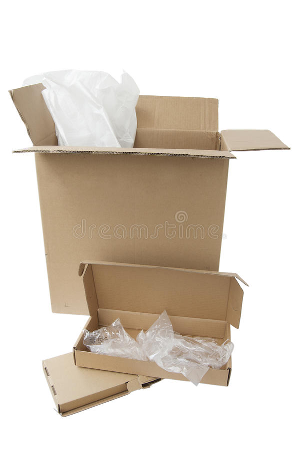 Computer-Verpackung stockfoto