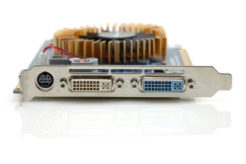 Computer video card output ports royalty free stock image