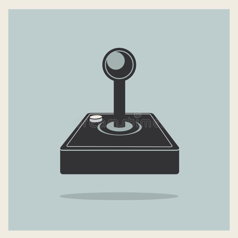 Computer Video Game Joystick Vector. Computer Video Game Joystick on Retro Background Vector vector illustration