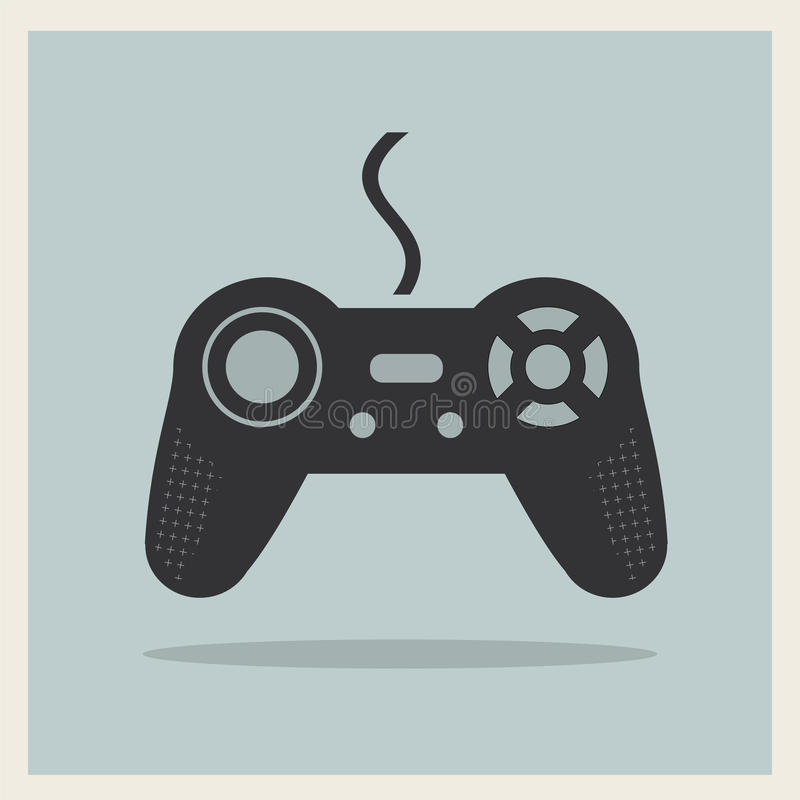 Computer Video Game Joystick Vector. Computer Video Game Joystick on Retro Background Vector royalty free illustration