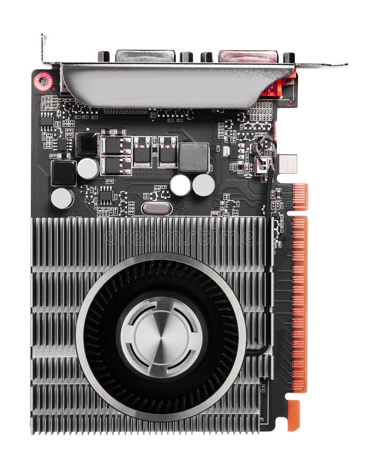 Computer videocard isolated stock photo