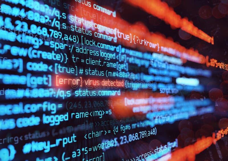 Computer-Virenbefall-Hintergrund vektor abbildung
