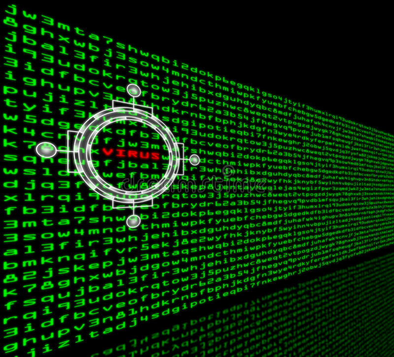 Free Computer Virus Detection In A Firewall Of Machine Code Stock Photography - 31354922