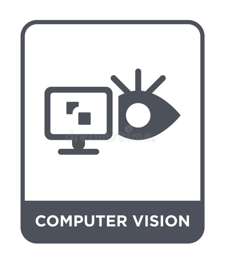 computer vision icon in trendy design style. computer vision icon isolated on white background. computer vision vector icon simple vector illustration