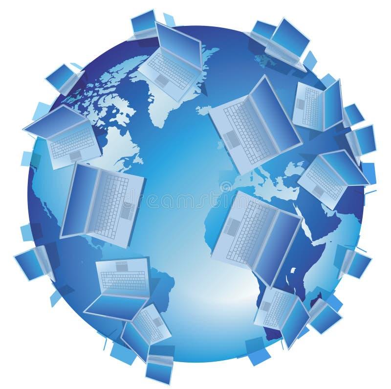 Computer-Welt getrennt stock abbildung