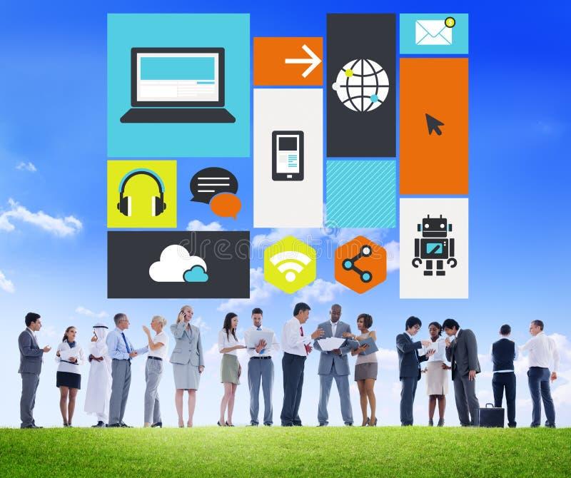 Computer-Wolken-Datenverarbeitungsspeichermedium-Digital-Konzept lizenzfreies stockfoto