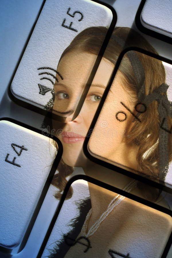 Download Computer woman stock photo. Image of keyboard, equipment - 1878502