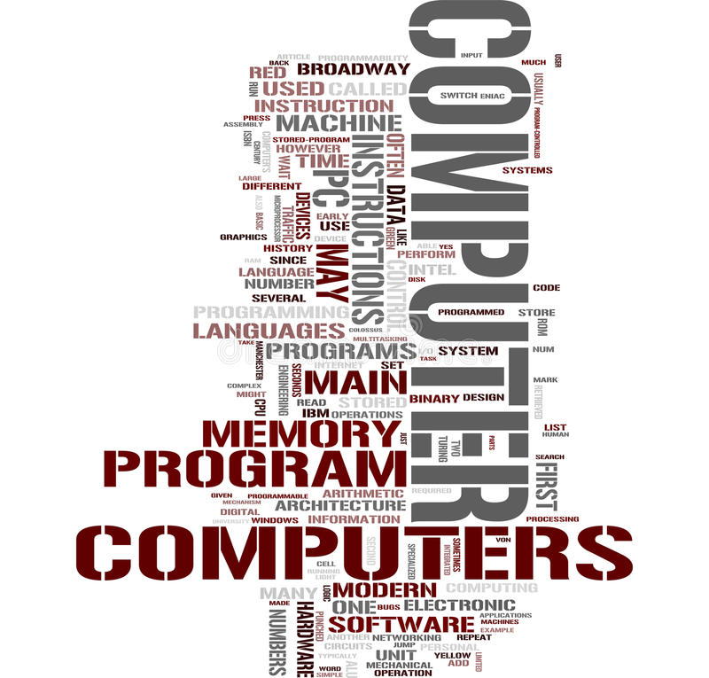 Computer word collage royalty free illustration