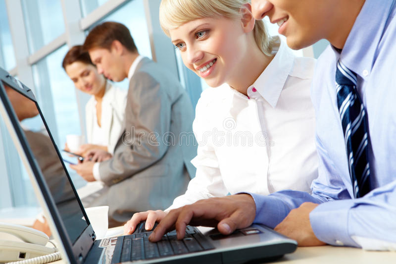 Computer Work Royalty Free Stock Photography
