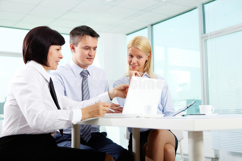 Download Computer work stock photo. Image of businesspeople, corporate - 28949452